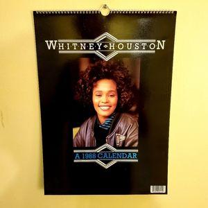 Vintage Deadstock 1988 Whitney Houston Calendar